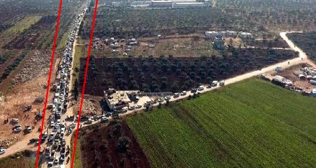 Suriye rejiminin saldırısından kaçıp Türkiye sınırına ulaşanların sayısı 600 bine dayandı
