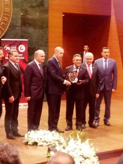 Reyhanlı Ticaret Borsası(TB) Başkanı  Bülent Karaca'ya hizmet şeref belgesi verildi