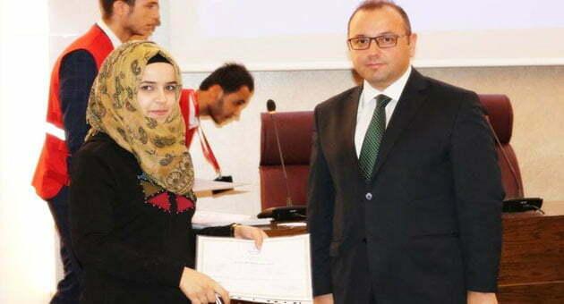 Türkçe öğrenen Suriyelilere sertifika