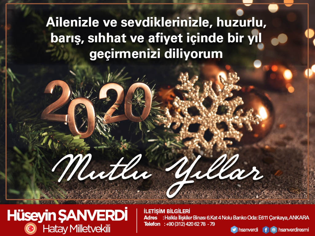 Milletvekili Şanverdi'nin yeni yıl mesajı